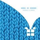 Текстура ткани sewater knit вектора горизонтальная Стоковое Изображение RF