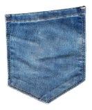 текстура тканья джинсыов карманная Затрапезная голубая джинсовая ткань Стоковые Фотографии RF