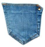 текстура тканья джинсыов карманная Затрапезная голубая джинсовая ткань Стоковое Изображение RF