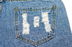 текстура тканья джинсыов карманная Стоковое фото RF