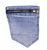 текстура тканья джинсыов карманная Стоковые Изображения RF