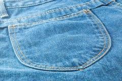 текстура тканья джинсыов карманная Стоковая Фотография