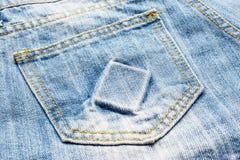 текстура тканья джинсыов карманная Стоковые Фотографии RF