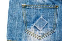 текстура тканья джинсыов карманная Стоковое Изображение RF