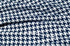 Текстура, ткань, предпосылка Диамант сини картины вязания крючком ткани Стоковая Фотография RF