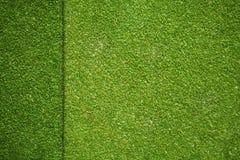 Текстура травы на искусственном поле гольфа Стоковые Изображения
