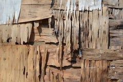 Текстура 5091 - треснутая древесина Стоковое фото RF