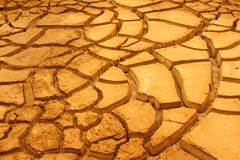 Текстура треснутой сухой земли Стоковая Фотография