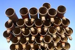 текстура трубы утюга Стоковые Фотографии RF