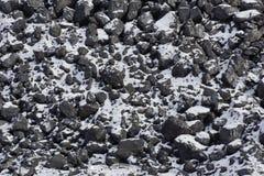 текстура угля снег на угле Стоковые Изображения RF