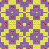 Текстура украшения произведенная плиткой безшовная Стоковое фото RF