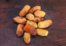 Текстура урожая высушенных дат аравийца Стоковые Фото