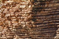 Текстура утеса Большие утесы exfoliate от утеса Стоковые Фотографии RF
