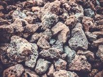 Текстура утеса от предпосылки кучи утеса Малые камни Стоковые Изображения RF