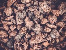 Текстура утеса от предпосылки кучи утеса Малые камни Стоковые Фото