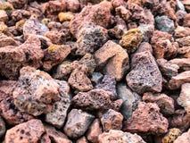 Текстура утеса от предпосылки кучи утеса Малые камни Стоковая Фотография RF