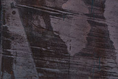 Текстура утюга запятнала в фиолетовом цвете поцарапанная краска Th Стоковые Фото
