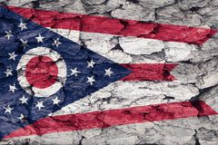 Текстура флага Огайо иллюстрация штока