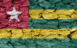 Текстура флага Того стоковая фотография