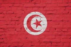 Текстура флага Туниса иллюстрация штока