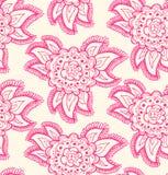 Текстура флористической декоративной розы безшовная. Предпосылка с богато украшенными цветками Стоковые Фото
