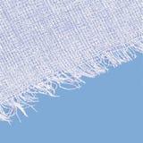 Текстура холста с краем Белый голубой цвет Стоковая Фотография