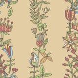 текстура цветка безшовная Бесконечная флористическая картина Смогите быть использовано для обоев Стоковые Фотографии RF