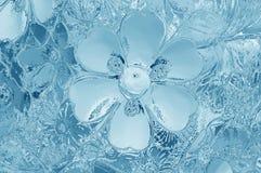 Текстура цветного стекла голубая для предпосылки Стоковая Фотография RF