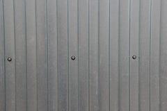 Текстура цинка покрыла в форме волн стальной лист Стоковые Изображения RF
