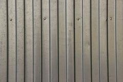 Текстура цинка покрыла в форме волн стальной лист Стоковая Фотография RF