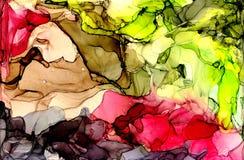 Текстура чернил спирта Жидкая предпосылка конспекта чернил искусство для дизайна Стоковое Изображение RF