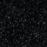 Текстура черного настила terrazzo безшовная Реалистическая картина пола мозаики вектора бесплатная иллюстрация