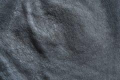 Текстура черной кожи для предпосылки Стоковые Фото