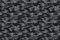 Текстура, чернота и серый цвет камуфлирования армии вектор иллюстрация штока