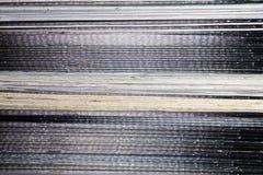 Текстура черно-белых страниц кассет Стоковые Фото