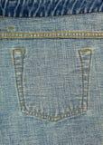 Текстура шва карманн джинсов внутренняя Стоковое фото RF