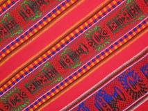 текстура шелка шали картины ткани мексиканская Стоковая Фотография