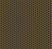 Текстура шестиугольника золота - вектор Стоковые Изображения