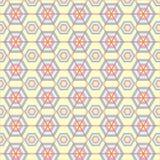 Текстура шестиугольников геометрическая картина безшовная мир вектора искусства светлый Стоковые Изображения RF