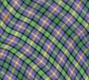 Текстура шотландки ткани Предпосылка ткани Стоковое Изображение RF