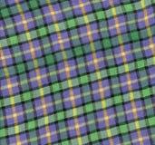 Текстура шотландки ткани Предпосылка ткани Стоковые Изображения RF
