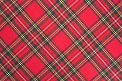 Текстура шотландки ткани Стоковые Фото