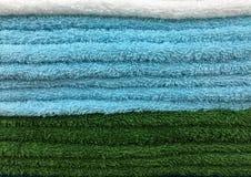 Текстура штабелированных пушистых полотенец Стоковое Изображение RF