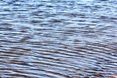 Текстура льда, который замерли воды Стоковая Фотография