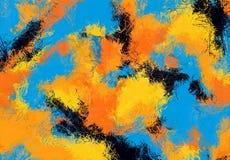 Текстура эскиза абстрактного искусства Красочные цифров нарисованные линии цветастая текстура современное художественное произвед Стоковое Изображение