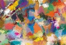 Текстура эскиза абстрактного искусства Красочные цифров нарисованные линии цветастая текстура современное художественное произвед Стоковая Фотография RF