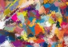 Текстура эскиза абстрактного искусства Красочные цифров нарисованные линии цветастая текстура современное художественное произвед Стоковое фото RF