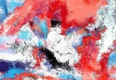 Текстура эскиза абстрактного искусства Красочные цифров нарисованные линии цветастая текстура современное художественное произвед Стоковые Изображения RF