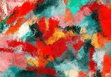 Текстура эскиза абстрактного искусства Красочные цифров нарисованные линии цветастая текстура современное художественное произвед бесплатная иллюстрация