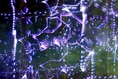 Текстура, яркая абстрактная картина в линиях цвета различных и пятна на черной предпосылке Стоковое Изображение RF